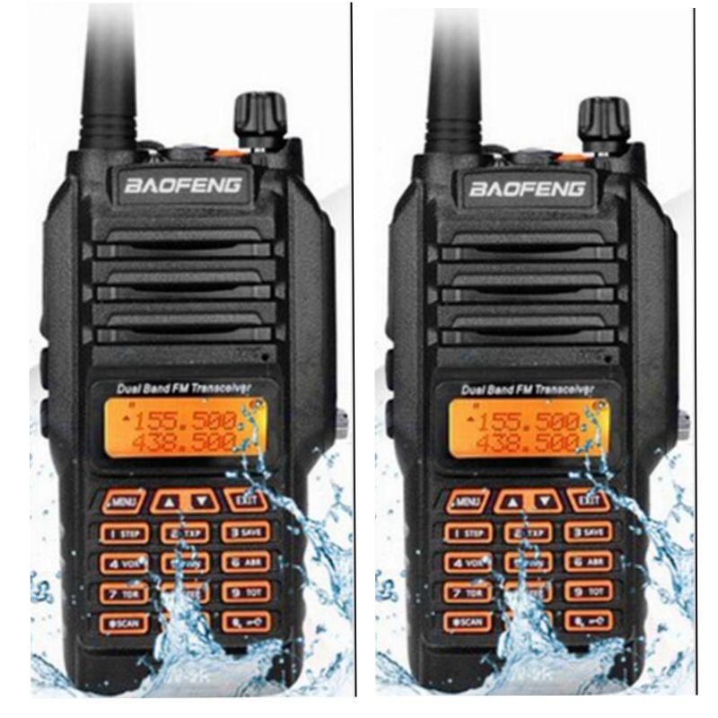 2PCS Baofeng UV-9R walkie talkie 400-520MHz VHF:136-174MHz VHF UHF powerful 8w long distance 10km Waterproof IP67 two way radio