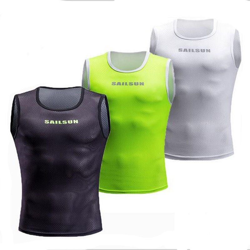 Cycling Jersey Keep Dry and Warm Mesh Cycling Vest Sleeveless Bike Bicycle Undershirt Cycling Clothing Jerseys