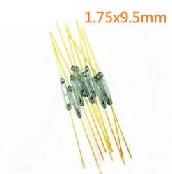 10 pcs Reed Switch 1.75x9.5mm Green Glass Normally Open Contact For Sensors 100% Original