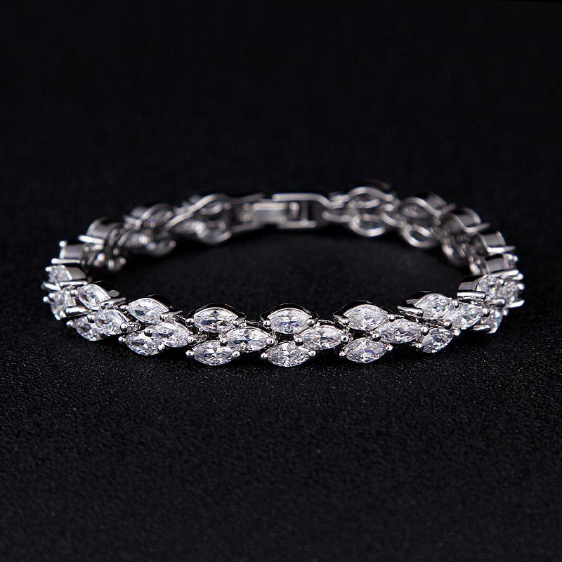Emmaya haut tendance qualité Zircon Bracelet couleur or blanc à la mode femmes Bracelet Bracelet de mariage cadeau de fête