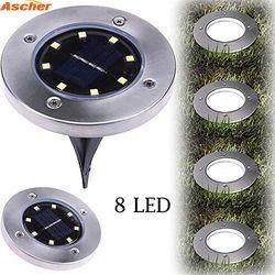 1PCS Waterproof 8 LED Solar Outdoor Ground Lamp Landscape Lawn Yard Stair Underground Buried Night Light Home Garden Decoration
