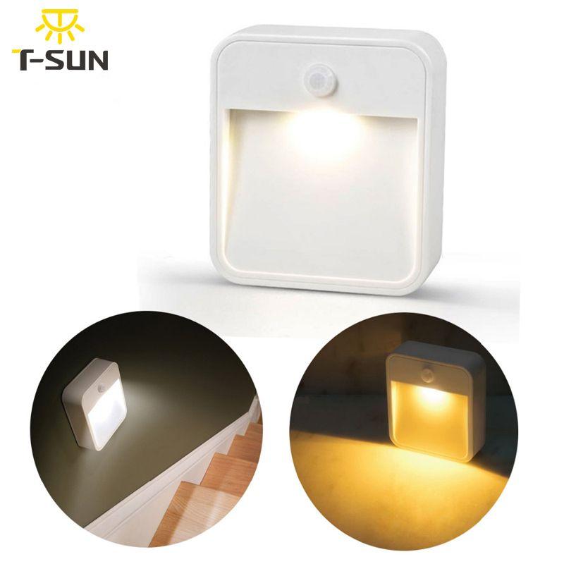 T-SUNRISE LED veilleuse sans fil applique murale lumières avec capteur de mouvement luminaires pour maisons lampe de lumière capteur humain