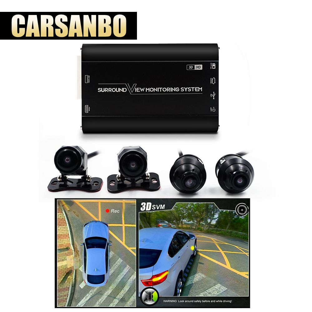 360 grad 1080P Surround View Überwachung Panoram System mit Front Hinten Links Rechts Kamera Vogel Ansicht Parkplatz Auto DVR universal