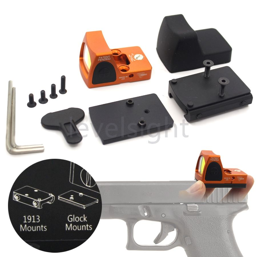 Tactical RMR Reflex Red Dot Sight 3.25 MOA Scope for Glock Hunting Fit 20mm Pictinny Rail Mounts Sport Toll