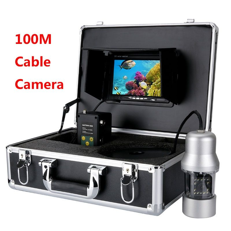 MAOTEWANG 20m 50m 100m Cable Camera Fish Finder 1000TVL Underwater Fishing Camera 6W LEDs 360 Degree Rotating 7 Inch LCD Monitor
