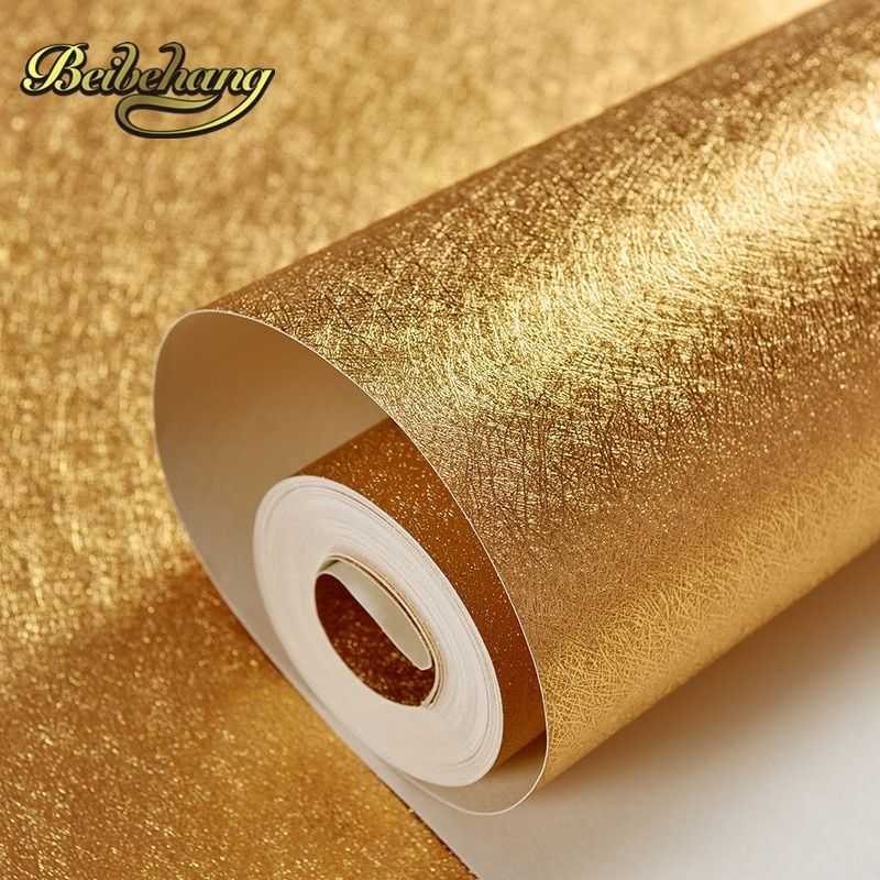 beibehang wall paper Bar KTV backdrop PVC wallpaper gold foil suspended ceiling material gold wallpaper,papel de parede,