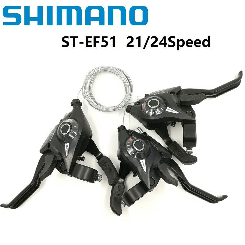 SHIMANO ST EF51 Bicycle Derailleur 3*7/8 21/24 Speed Conjoined DIP Shift Lever Brake Levers Mountain/Folding Bike Shifter EF500