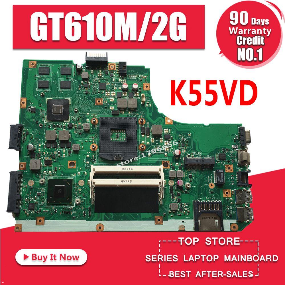 K55VD Motherboard REV:3.1 GT610M/2GB RAM For ASUS K55V A55V R500V laptop Motherboard K55VD Mainboard K55VD Motherboard test 100%