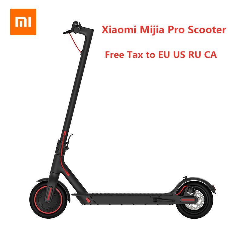 EU Lager 2019 Neue Original Xiaomi Mijia Pro Smart Elektrische Roller Faltbare Hoverboard Skate Bord KickScooter Mini Zwei Räder