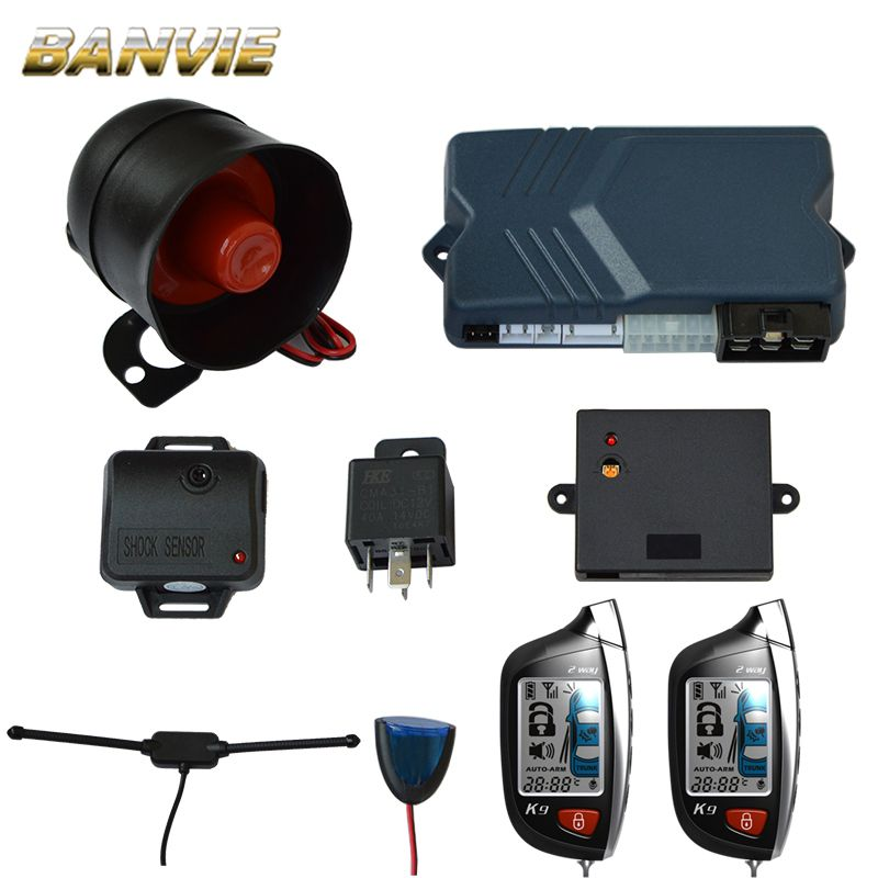 Two 2 Way LCD Remote Engine Start Car Alarm Security System with Keyless Entry Central door Locking Trunk Release starline