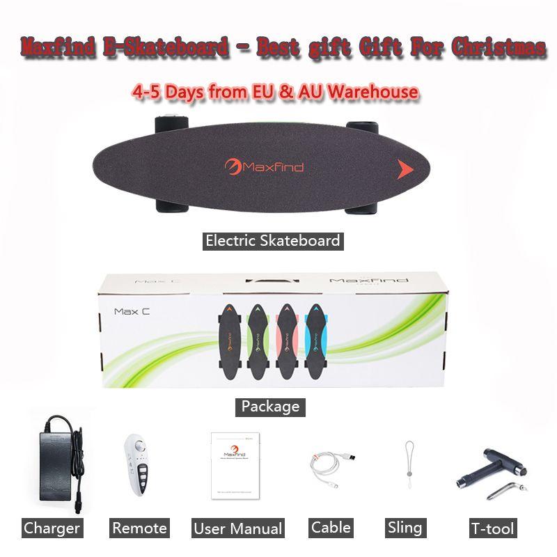 Maxfind elektrische power skateboard hub motor 500 Watt cent bord mit fernbedienung für Weihnachten Kinder & Erwachsene