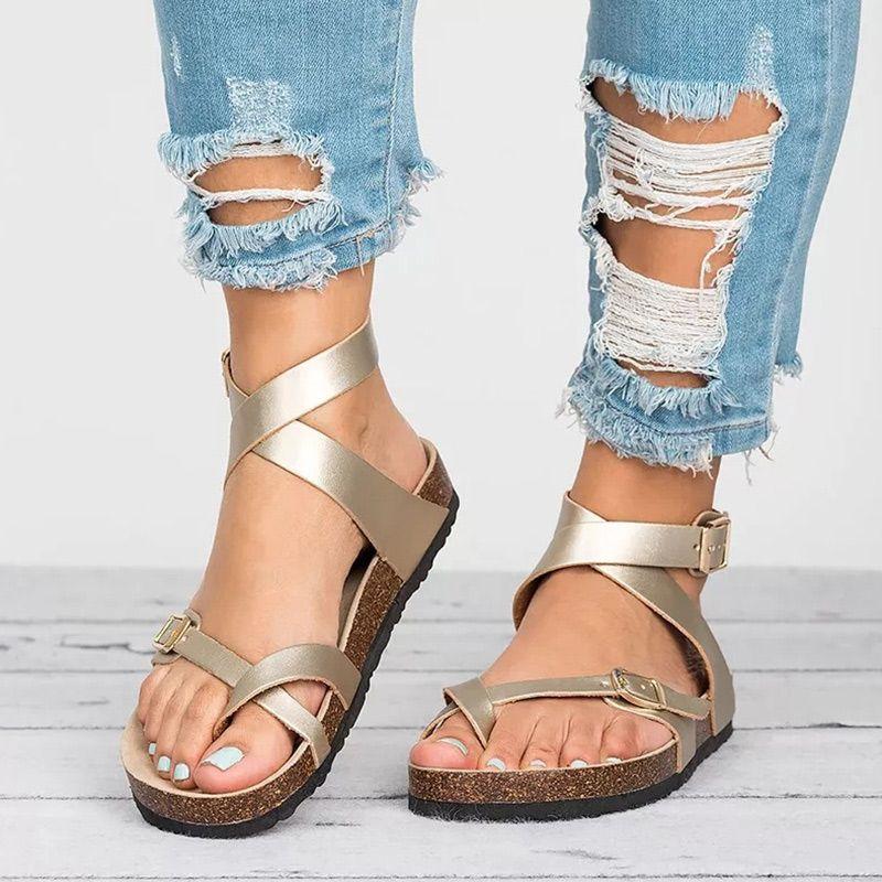 Factory Direct Sandals Women 2019 Summer Shoes Women Flat Sandals For Beach Chaussures Femme Clog Plus Size 43 Casual Flip Flop
