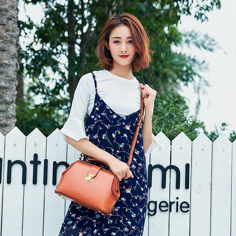 Neue design 2018 Frauen leder Schulter Tasche KUH tasche Beiläufige Handtaschen kleine top mode 100% echtem leder inklusive versand