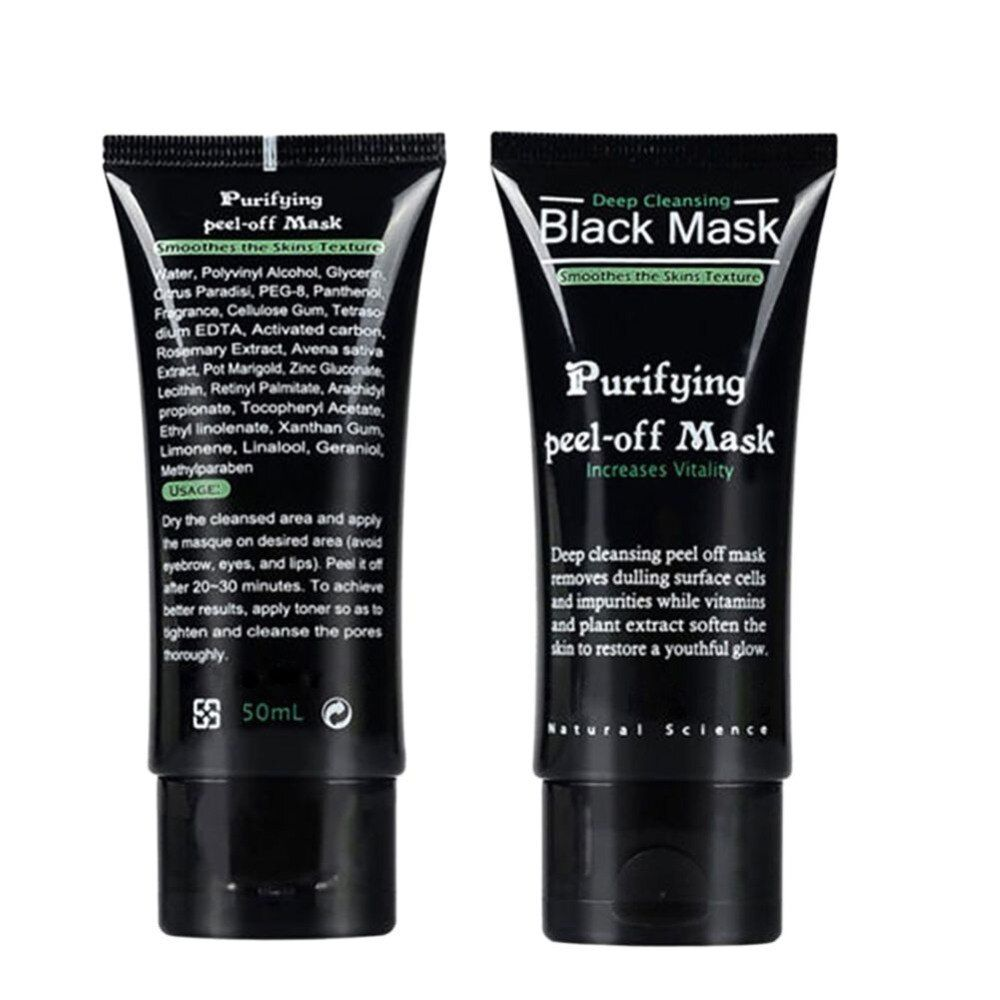 Professional 2017 Women Blackhead Remover Deep Cleansing Purifying Peel Acne Black Mud Face Mask Black Head Accessories Tools