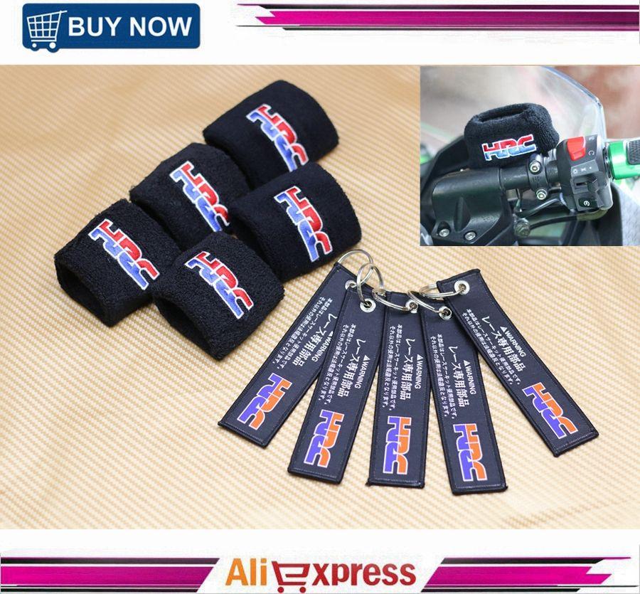 Wholesale Motorcycle HRC Brake Oil Reservoir Sock Fluid Tank Cup Cover Cuff Sleeve For Honda CBR1000RR 900RR 600RR 500R 250R