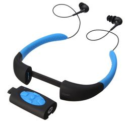 LEORY IPX8 Waterproof Headset Swimming ports Bluetooth Earphone for Diving Exercising FM Radio Built in 4GB Memory