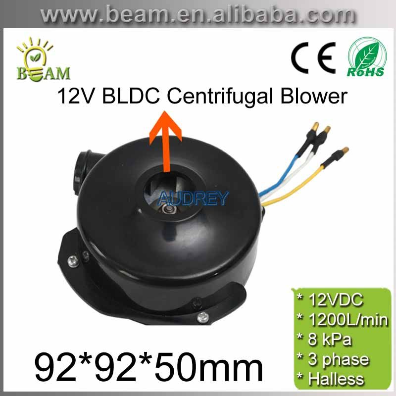 FREE SHIPPING 12v 800LPM 29800rpm 3phase Brushless DC Powerful Fan Mini BLDC Centrifugal Electric Air Blower with 7kPa Pressure