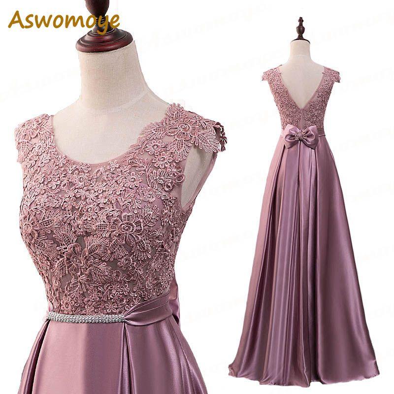 Elegant Evening Dress Long 2018 Appliques Banquet Party Dress Stunning Satin Prom Dresses Robe De Soiree vestido de festa