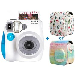 Genuine Fujifilm Instax Mini 7s Instant Photo Film Camera, Accept Fuji Instax Mini Film, PU Carrying Shoulder Bag as Free Gift