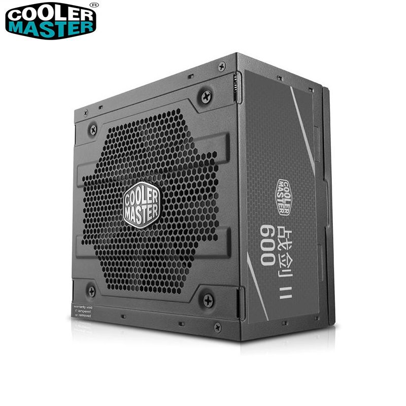 Cooler Master Non-module Rated 600W Quiet Computer Power supply Input Voltage 200~240V Safety Certification Office game PC PSU