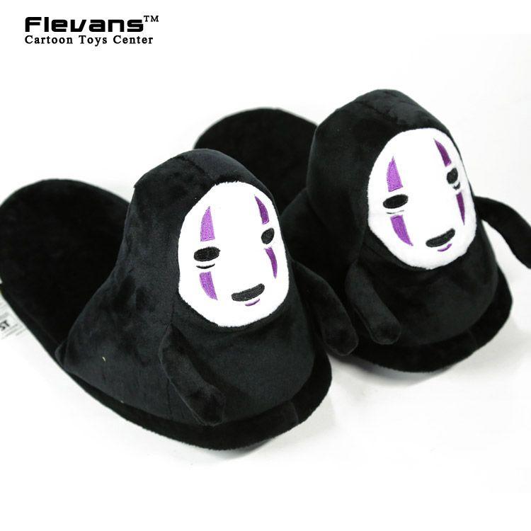 Anime Cartoon Spirited Away No Face Plush Toys Plush Shoes Home House Winter Slippers for Children Women Men