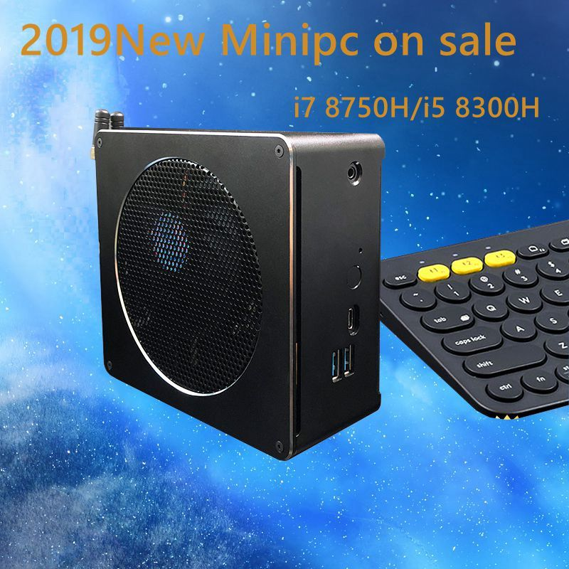 2019 Newset Core 8th Gen mini pc win10 i7 8750 H/i5 8300 H Inetel UHD Grafiken 630 2,4 g/5G AC wifi 4 K mini 6 Core Gaming pc