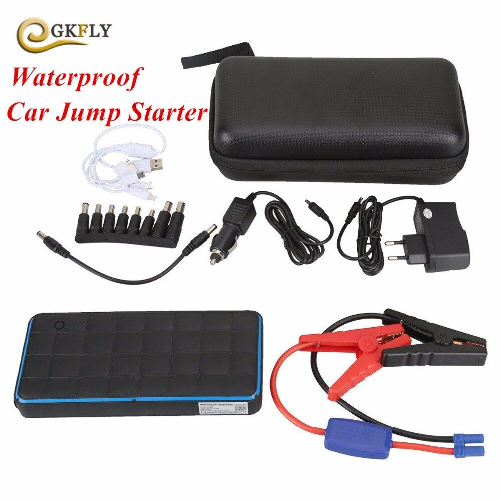 1000A Peak Current Car Jump Starter Waterproof 28000mAh Starting Device Lighter Power Bank 12V Car Charger For Car Battery LED