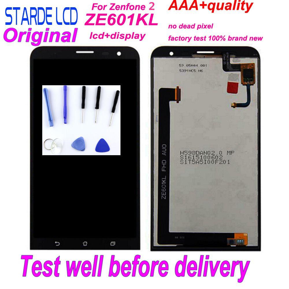 Starde 6 ''écran tactile Original d'affichage à cristaux liquides pour Asus ZenFone 2 Laser ZE601KL 601KL Z011D outils de montage complet de numériseur de panneau