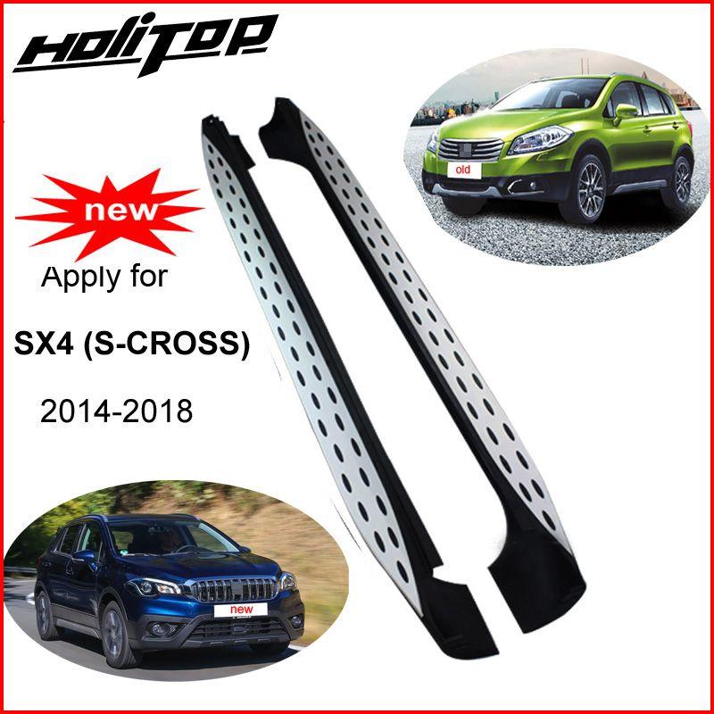 Heißer seite schritt bar pedal trittbrett für Suzuki SX4 (S-CROSS) 2014-2018, neueste design (BM und Ben stil), erstaunliche wirkung