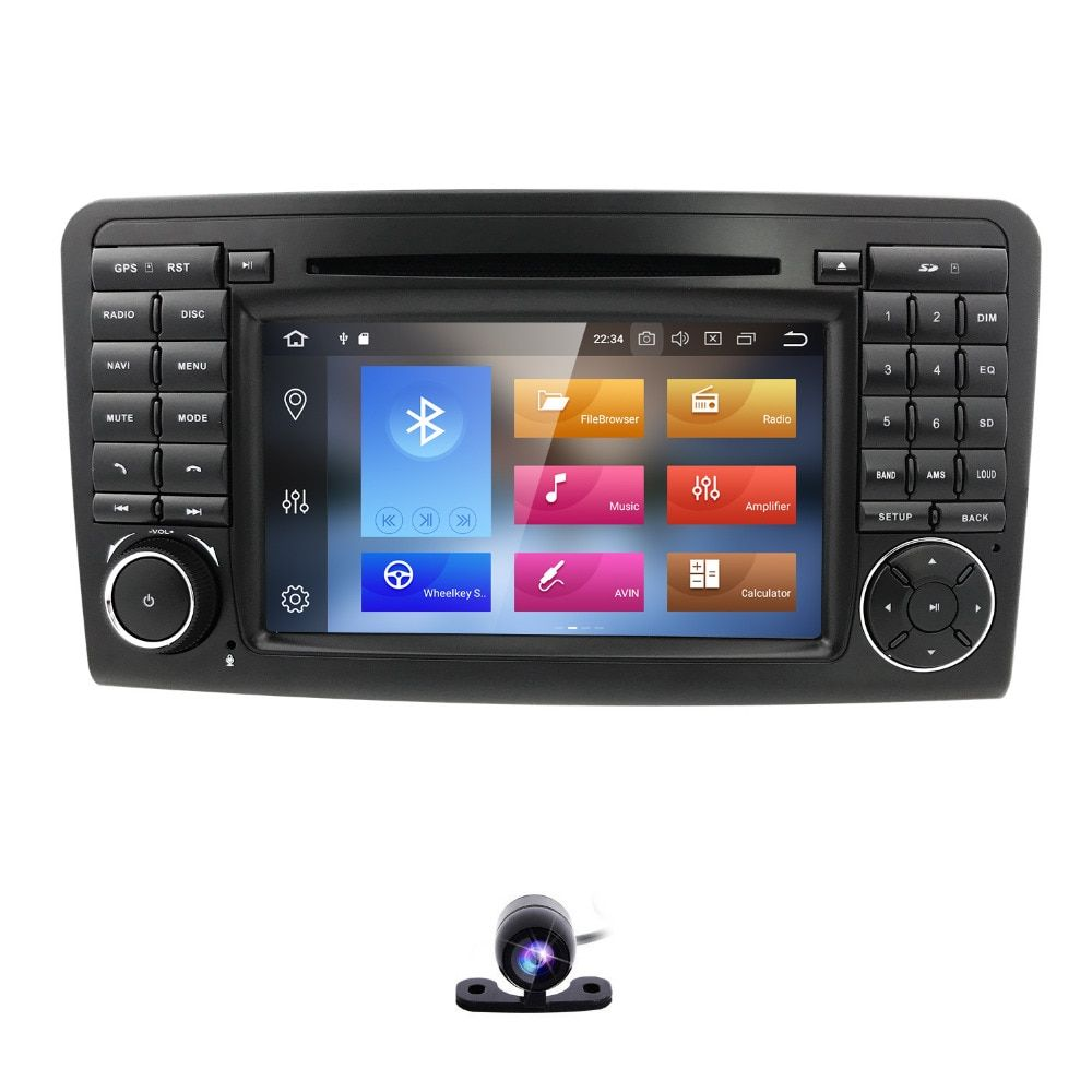 2 din AutoRadio Android 8.0 GPS Car Multimedia DVD player For Mercedes Benz ML GL CLASS W164 ML350 ML500 X164 GL320 Stereo Wifi