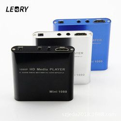 LEORY 1080P Mini HDD Media Player HDMI AV USB HOST Full HD With SD MMC Card Reader Support H.264 MKV AVI 1920*1080P 100Mpbs