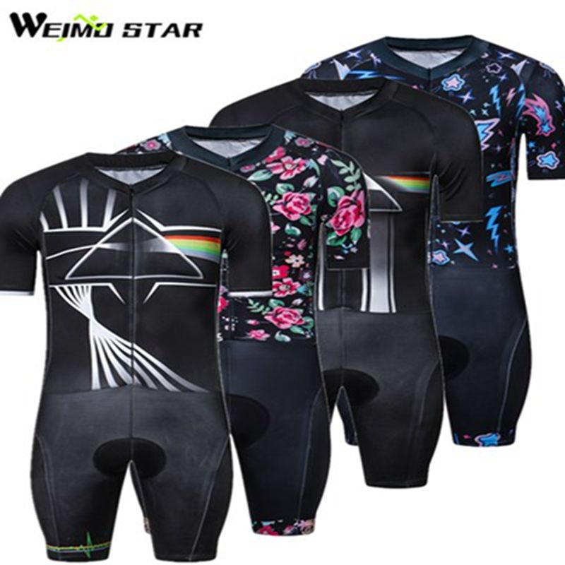 2018 One-Piece Cycling Clothing Men triathlon Cycling Jersey Compression Skinsuit MTB Bike Jersey Downhill Bicycle Jersey