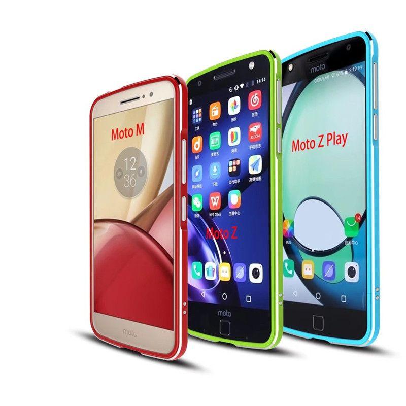 Pour Motorola Moto Z Jouer De Luxe Ultra Mince En Métal En Aluminium Cas de Butoir de Couverture Téléphone Cas