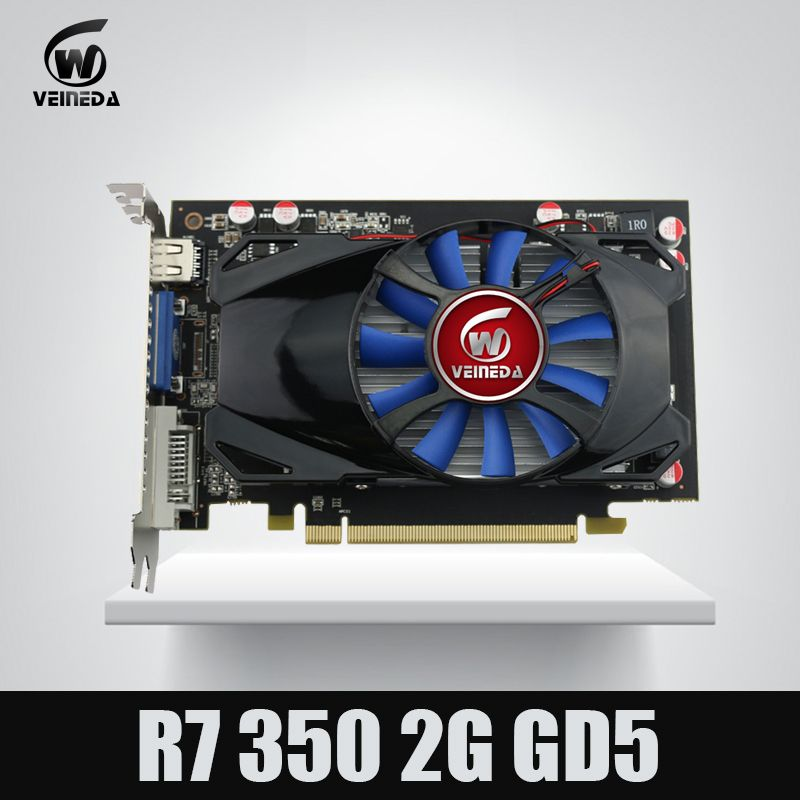 Original Desktop GPU Grafikkarte Veineda R7 350 2 GB GDDR5 128Bit Unabhängige Spiel Grafikkarte R7-350 für ATI Radeon gaming