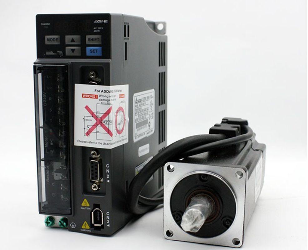 ECMA-C20604RS + ASD-B2-0421-B DELTA 0.4kw 400 w 3000 rpm 1.27N.m ASDA-B2 AC servo motor fahrer kits mit 3 m power und encoder kabel