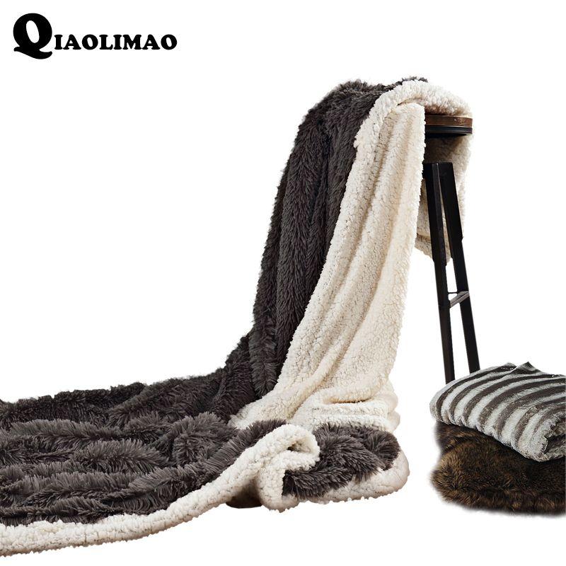 Бархат норки Одеяло Зима утолщаются теплый snuggie Super Soft кувертюр коралловый флис фланель Рашель Одеяло на кровать Бесплатная доставка
