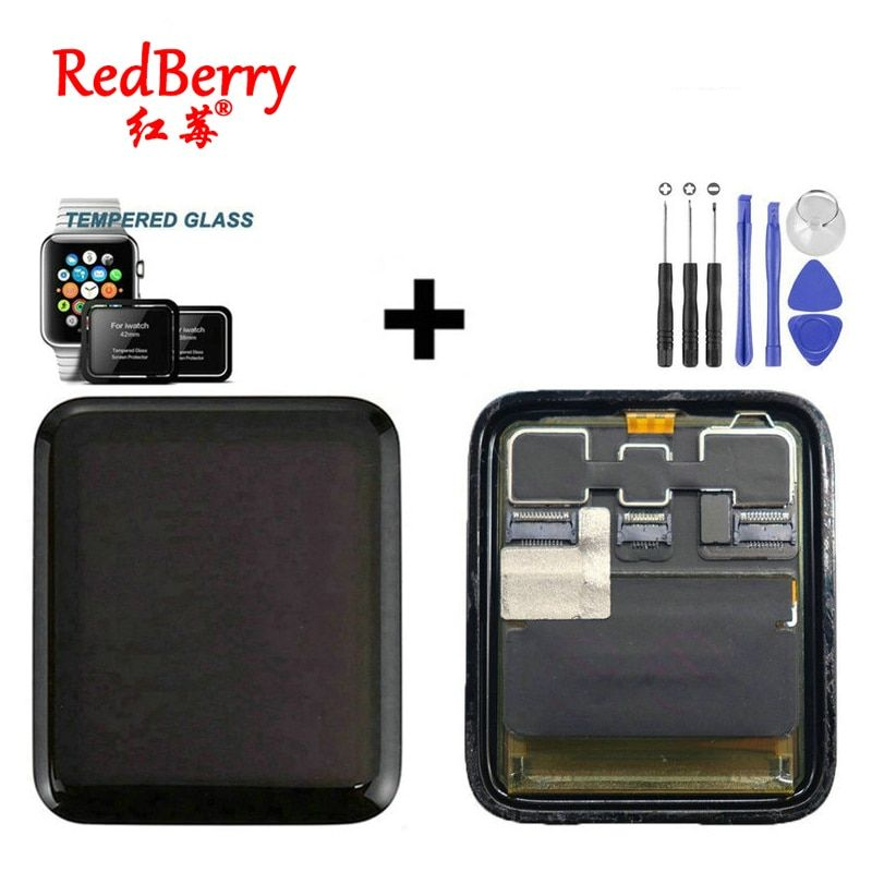 Redberry For Apple Watch Series 2 LCD Display Touch Screen Digitizer Series2 S2 38mm/42mm Pantalla Replacement+Tempered Glass