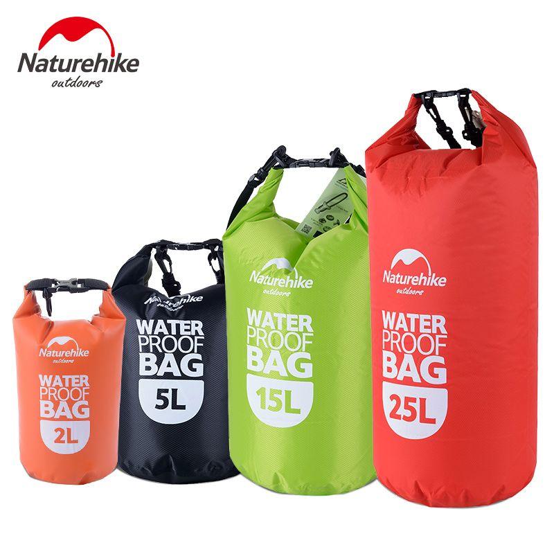 Naturetrekking sac de Rafting étanche 4 couleurs plein air Nylon kayak stockage dérive sèche ultraléger sac de natation 2L 5L 15L 25L