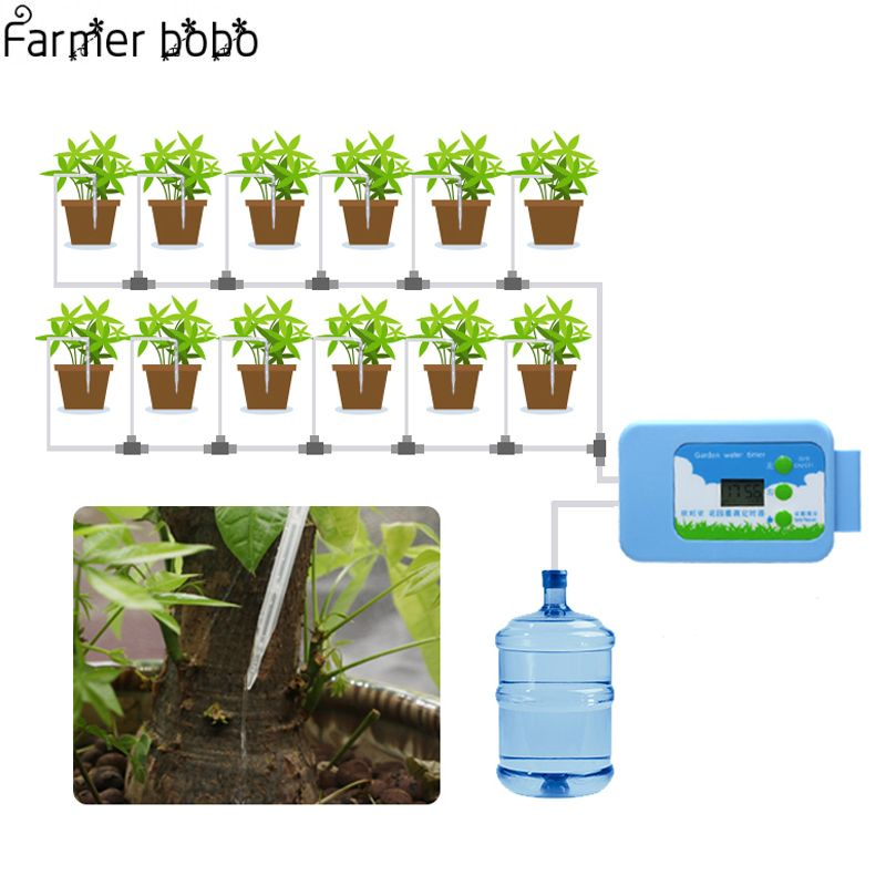 Drip irrigation LED Pump Automatic watering Set Plant Watering Timer Garden Water Timer Home Office water irrigation