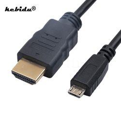 Kebidu Universal 1080 P Micro USB Ke HDMI Kabel HDTV Adaptor 1.5 M Kabel Audio untuk Xiaomi untuk Meizu untuk samsung untuk Htc Lg Sony