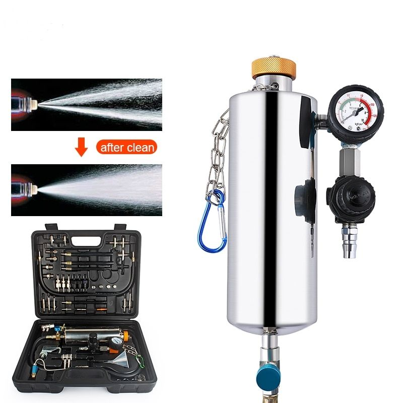 Autophix Gx100 Fuel Tool Car Tester Auto Clean Fuel Injection System Injector Tester Cleaner Washing Tool Pressure Vacuum Tester