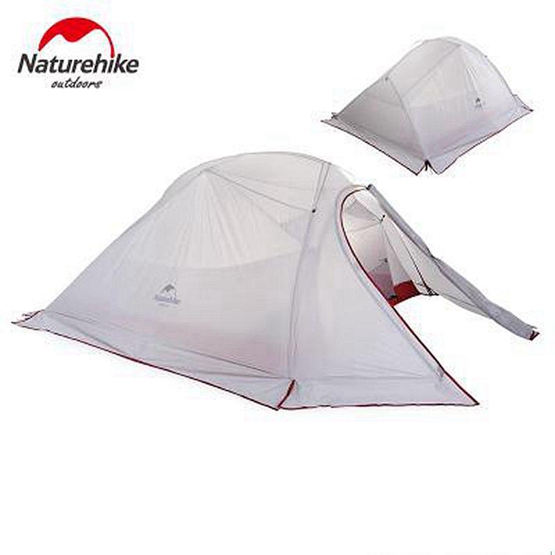 1,47 KG Naturehike Carpas Zelt Mit Schnee Röcke 20D Silikon Ultraleicht 2 Personen Doppelschichten Aluminiumstange Zelt