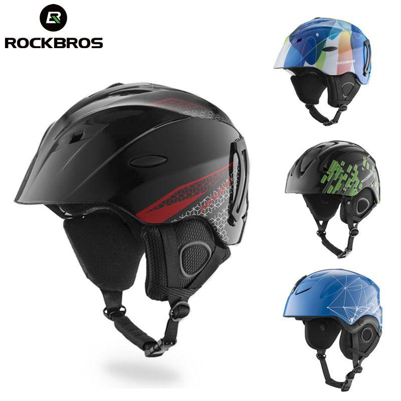 ROCKBROS Ski Helm CE Zertifizierung Sicherheit Skifahren Helme Snowboard Winter Chlid Erwachsene Thermische Ultraleicht Skateboard Kopf Tragen