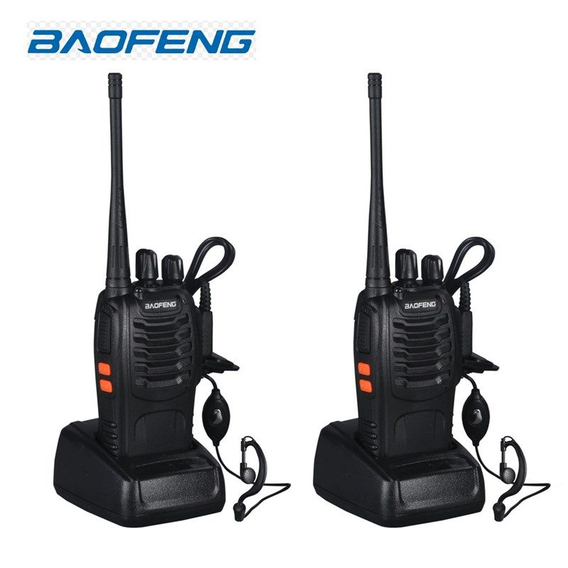 2 pcs Talkie Walkie Radio BaoFeng BF-888S 5 W Portable Jambon CB Radio à Deux Voies De Poche HF Émetteur-Récepteur Interphone bf-888s