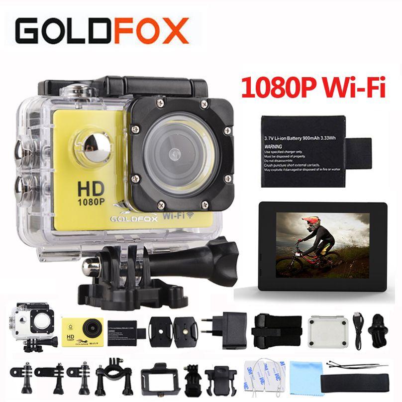 GOLDFOX SJ 4000 Action Camera 30m waterproof 2.0' Screen 12MP wifi Sport DV 1080p Sport Camera go extreme pro cam Mini Camera