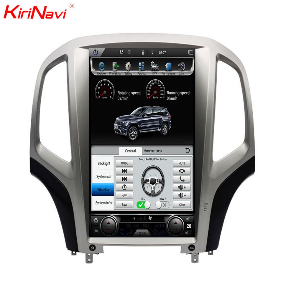 KiriNavi Vertical Screen Tesla Style Android 7.0.1 14.1 Inch Car Radio For Opel Astra J Car DVD Gps Navigation Wifi 4G 2010-2014
