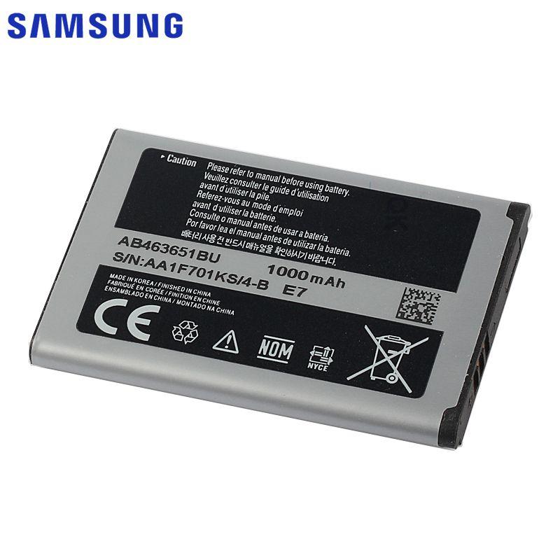 Originale Batterie Samsung Pour S5620I S5630C S5560C W559 J808 F339 S5296 C3322 L708E C3370 C3200 C3518 S5610 AB463651BU 1000 mAh