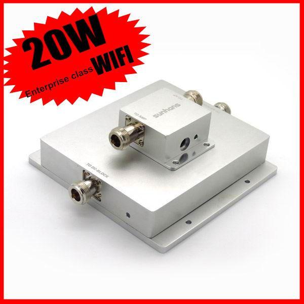 Original Sunhans 20 Watt 43dBm Drahtlose Netzwerk WiFi outdoor-Signal Booster Verstärker 2,4 GHz Outdoor WiFi Signalverstärker