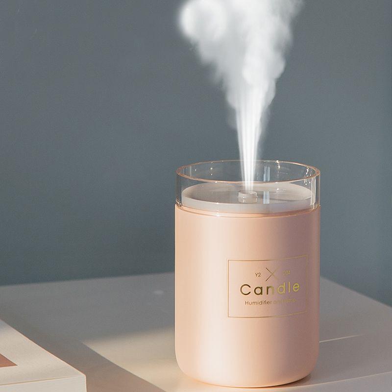 280 ML humidificateur d'air à ultrasons bougie romantique lumière douce USB diffuseur d'huile essentielle voiture purificateur arôme Anion brumisateur