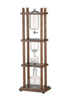 Tiamo wasserfilterkaffeemaschine/kalt brauen filterkaffeemaschine/holland kalten filterkaffeemaschine/kalt tropf turm 5-8cup holz rack